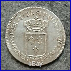 Louis XIV 1/3 Tiers D Écu 1722 BB Strasbourg Argent