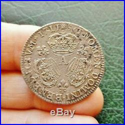 Louis XIV 1/4 Ecu aux 3 Couronnes 1711 A Paris