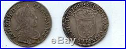 Louis XIV 1/4 d' écu à la mèche longue 1649 Rouen