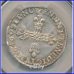 Louis XIV 1/4 écu 1646 T Nantes PCGS AU55