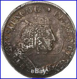 Louis XIV 1/4 écu de Flandre aux Palmes 1694 W (Lille)