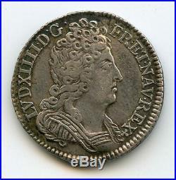 Louis XIV (1643-1715) 1/10 Ecu aux 3 couronnes 1711 X Amiens
