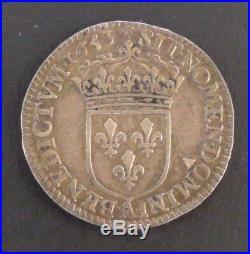 Louis XIV (1643-1715) 1/12ème d'écu à la mèche longue 1653 A Paris