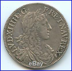 Louis XIV (1643-1715) 1/2 Ecu au buste juvénile 1660 Rennes