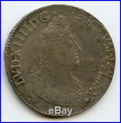 Louis XIV (1643-1715) 1/2 Ecu aux insignes 1701 A Paris