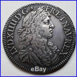 Louis XIV (1643-1715) Demi-écu 1668 A Paris Portrait exceptionnel