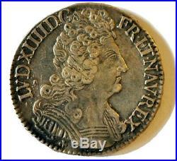 Louis XIV (1643 1715) Demi-écu Aux Trois Couronnes 1710 O, Riom
