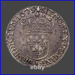 Louis XIV (1643-1715) Ecu à la cravate 1679 Bayonne