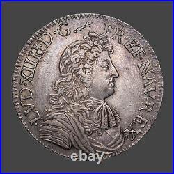 Louis XIV (1643-1715) Ecu à la cravate 1679 Limoges
