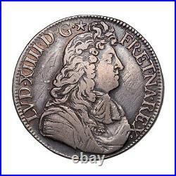 Louis XIV (1643-1715) Ecu à la cravate 1680 Bayonne