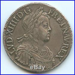 Louis XIV (1643-1715) Ecu à la mèche longue 1652 Aix