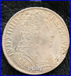 Louis XIV 1643-1715. Ecu aux 3 couronnes. 1709 Rennes