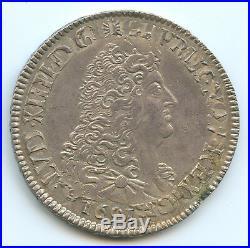 Louis XIV (1643-1715) Ecu aux 8 L 1691 E Tours Qualité
