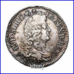 Louis XIV (1643-1715) Ecu aux 8L 1690 Aix Réf
