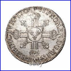 Louis XIV (1643-1715) Ecu aux 8L 2ème type 1704 Amiens Réf