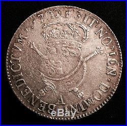 Louis XIV (1643-1715), Ecu aux insignes 1702 A (Paris)