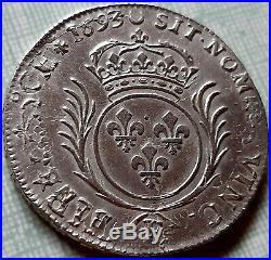 Louis XIV Demi 1/2 écu aux palmes 1693 E Tours sup