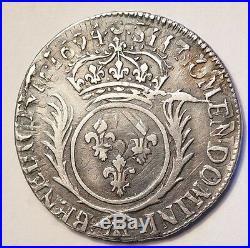 Louis XIV Demi Ecu Aux Palmes 1694aa Metz