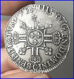 Louis XIV Demi Écu aux 8L (1704) Caen
