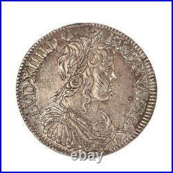 Louis XIV Demi écu à la mèche longue 1653 X