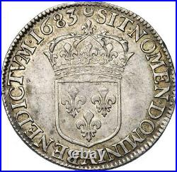 Louis XIV Demi-ecu au Jabot 1683 Paris Superbe rarissime plus bel exemplaire