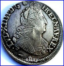 Louis XIV Demi écu aux 8 L 1704 Y Bourges
