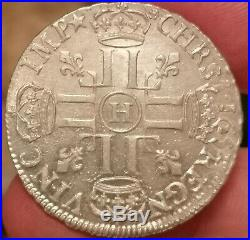 Louis XIV Demi-ecu aux huit L 1691 La Rochelle de toute beauté FDC