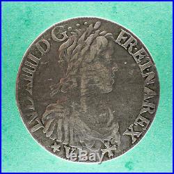 Louis XIV ECU de Navarre à la Mèche Longue