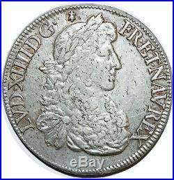 Louis XIV Ecu Au Buste Juvenile 1670 9 Rennes 2 E Type G. 206