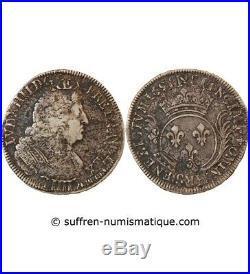 Louis XIV Ecu Aux Palmes 1693 / 1696