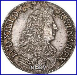 Louis XIV Ecu à la Cravate 1673 Bayonne 1er type superbe exemplaire