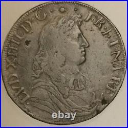 Louis XIV. Ecu a la cravatte de Navarre. Saint Palais. 1672. NO PAYPAL