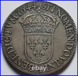 Louis XIV Écu à la mèche courte 1644 A point sup