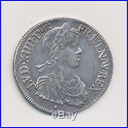 Louis XIV Écu à la mèche longue 1649 Aix