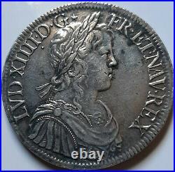Louis XIV Écu à la mèche longue 1652 A