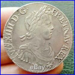 Louis XIV Ecu à la mèche longue 1659 L Bayonne