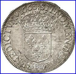 Louis XIV Ecu au buste Juvénile 1663 Bayonne Superbe exemplaire