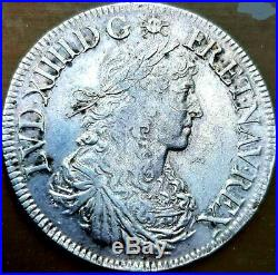Louis XIV Écu au buste juvénile 1666 A Paris ttb+