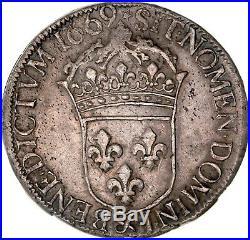 Louis XIV Ecu au buste juvénile 1669 Aix-en-provence SUP