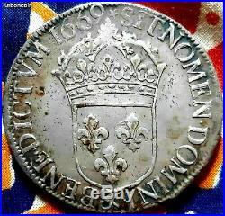 Louis XIV Ecu au buste juvénile 1669 & Aix sup