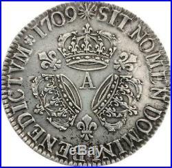 Louis XIV Écu aux 3 couronnes 1709 A Paris