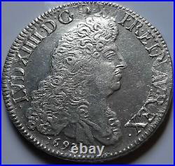 Louis XIV Écu aux 8 L 1693 P Dijon