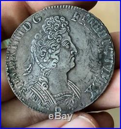 Louis XIV Ecu aux 8 L deuxième type 1705 A