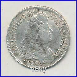 Louis XIV Écu aux 8L 1690 Aix