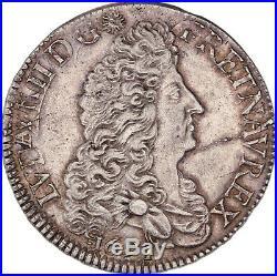Louis XIV Ecu aux Huit L 1691 Rouen Superbe exemplaire