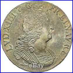 Louis XIV Ecu aux Huit L 1704 Limoges très rare Superbe