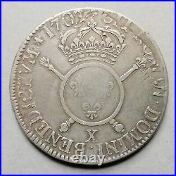 Louis XIV Ecu aux Insignes 1702 X Amiens (réf)