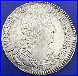Louis XIV Écu aux trois couronnes 1709 H La Rochelle