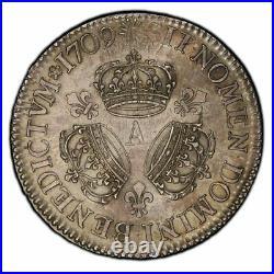 Louis XIV Ecu aux trois couronnes 1709 Paris Splendide exemplaire