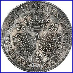 Louis XIV Ecu aux trois couronnes 1711 Paris Superbe exemplaire